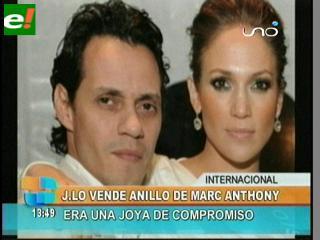 Jennifer López pone en venta anillo de compromiso de Marc Anthony
