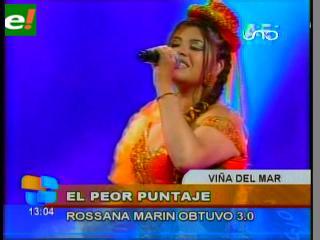 Critican participación de Rossana Marín en Viña por obtener el peor puntaje
