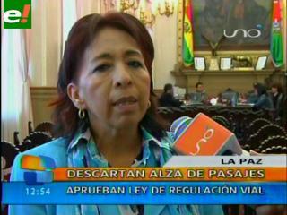 Aprueban Ley de Regulación Vial en La Paz y descartan alza de pasajes