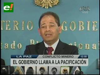 Gobierno invoca al diálogo tripartito para superar conflicto de Colquiri