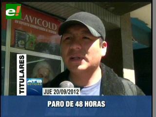 COB ataca paro de 48 horas, anuncian movilizaciones para mañana