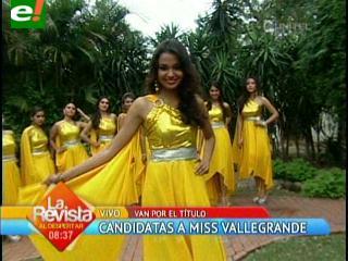 Presentación oficial de las candidatas al Miss Vallegrande 2013