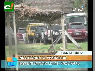 FELCN incautó 30 vehículos de 3 auto ventas en Santa Cruz