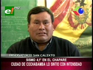 Sismo de 4.1 sacudió Cochabamba sin causar víctimas