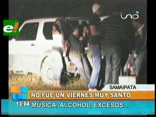 Un viernes no muy santo en Samaipata, hubo música y alcohol en exceso