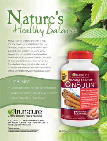 trunature® Advanced Strength CinSulin®, 170 Capsules