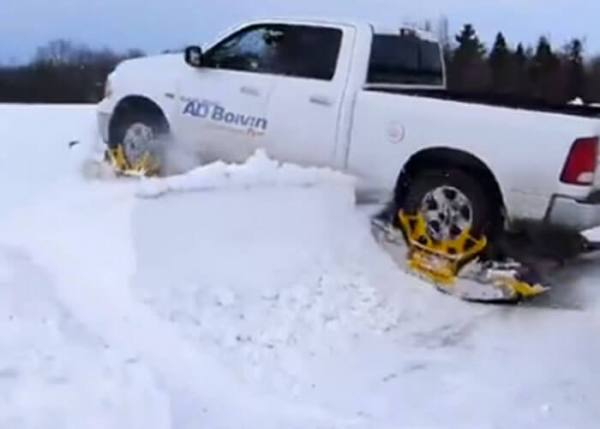 Turn Your Pickup Into A Snowcat