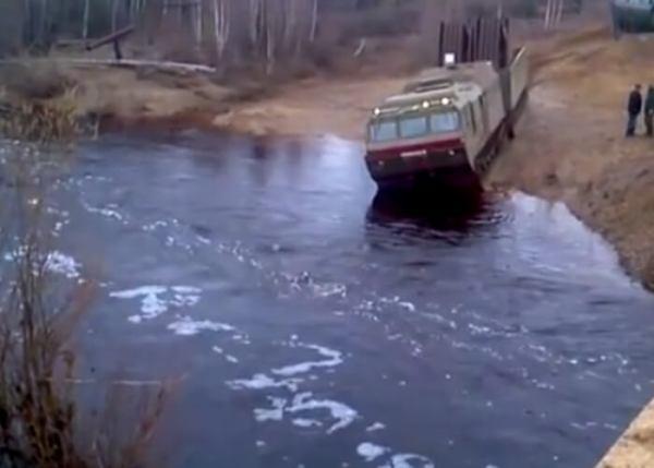 Russian Tank Crossing Video