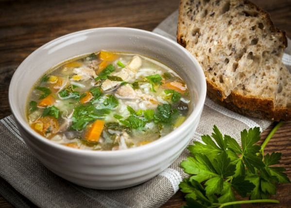 There's nothing like a hearty meal to fill you up after a long day on the road. If you have a slow cooker, try this recipe for easy chicken and vegetable soup.