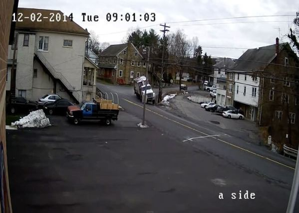Video: Garbage Truck Slams Into Power Lines