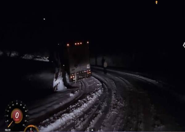 VIDEO: Snow and Ice On the Tail of the Dragon