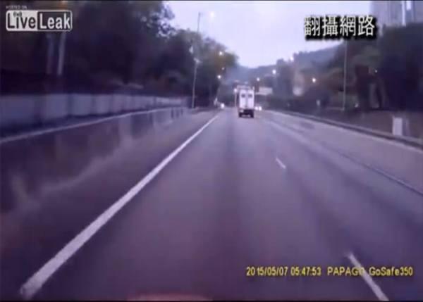 VIDEO: Trailer Disintegrates After Hitting Sign