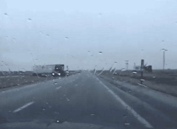 Kansas Trooper Almost Hit By Out Of Control Semi