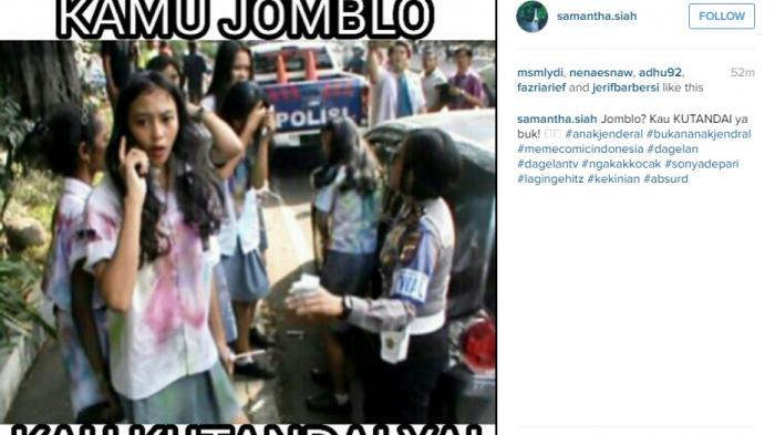instagram sonya mendadak tenar dan dibuat meme kocak dengan cepat menyebar di instagram dalam ini muncul tulisan halo team bully tolong