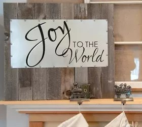 Reclaimed Wood and Steel Decorative Sign Hometalk
