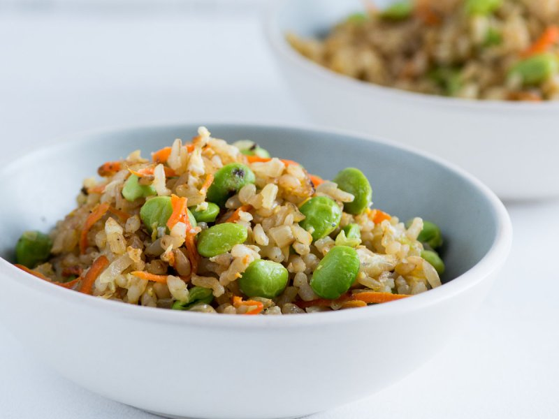 Large Of Fried Brown Rice