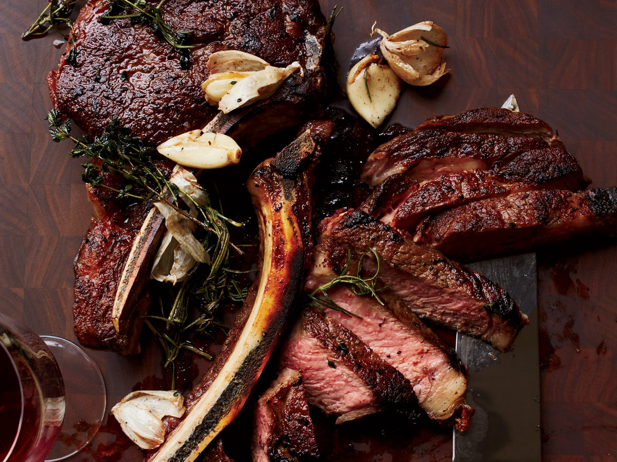 Shapely Rib Steaks Rib Steaks Recipe Chrisher Coombs Food Wine Cowboy Butter Ken Recipe Cowboy Butter Recipe Ree Drummond nice food Cowboy Butter Recipe