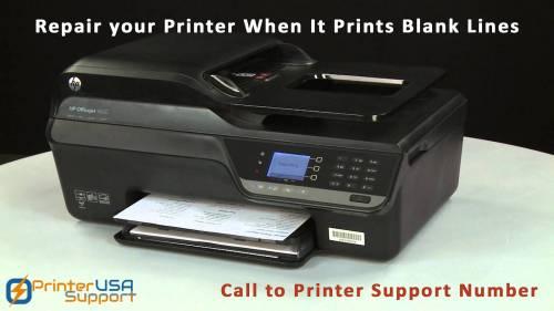 Medium Of Printer Prints Blank Pages