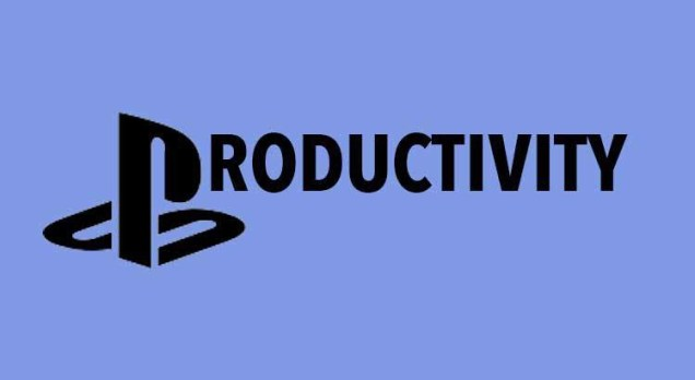"Playstation Logo in ""Productivity"""