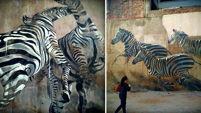 Joburg Street Art - zebra