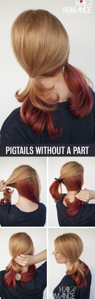 Hair-Romance-Hair-tutorial-for-pigtails-without-a-part