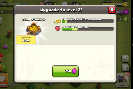 clash of the clans upgrade