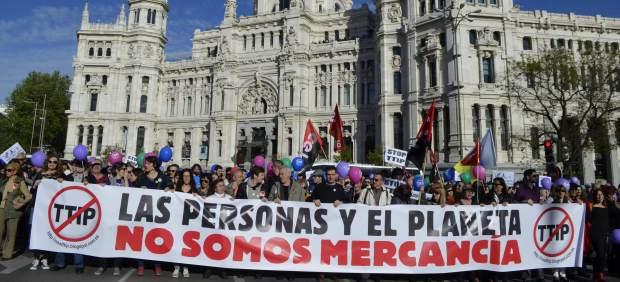 Protesta conta el TTIP