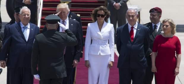 Melania y Donald Trump en su visita a Israel.