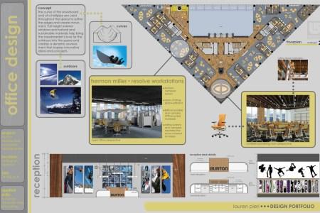 interior design portfolio cover for pinterest