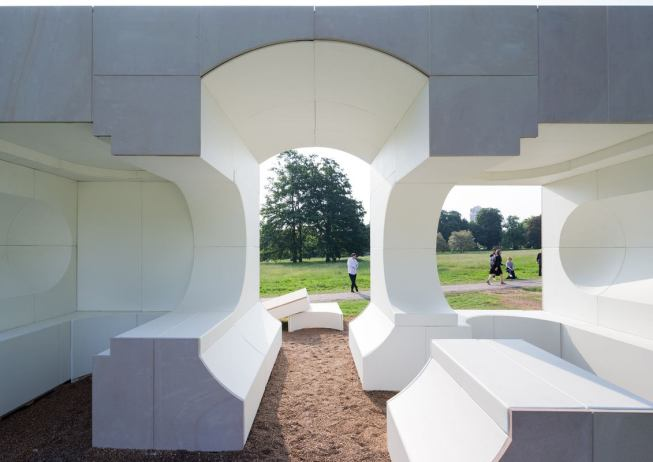 Serpentine Summer House 2016 designed by Kunlé Adeyemi (NLÉ); (10 June – 9 October); Photo © Iwan Baan