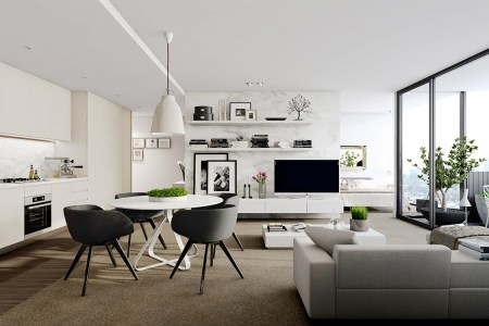 1 marble finish room divider