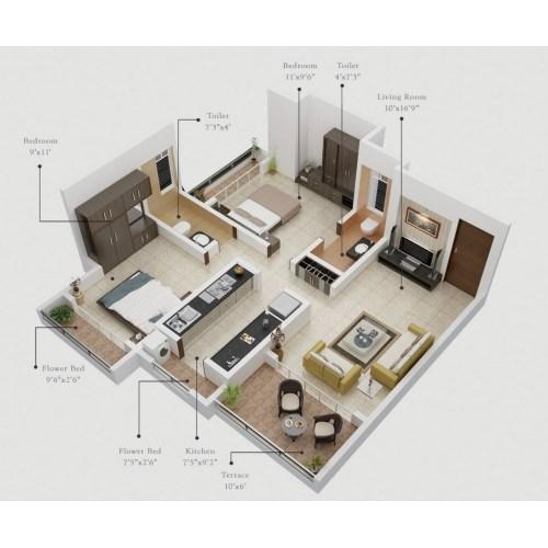 Medium Crop Of One Bedroom Apartment Plan
