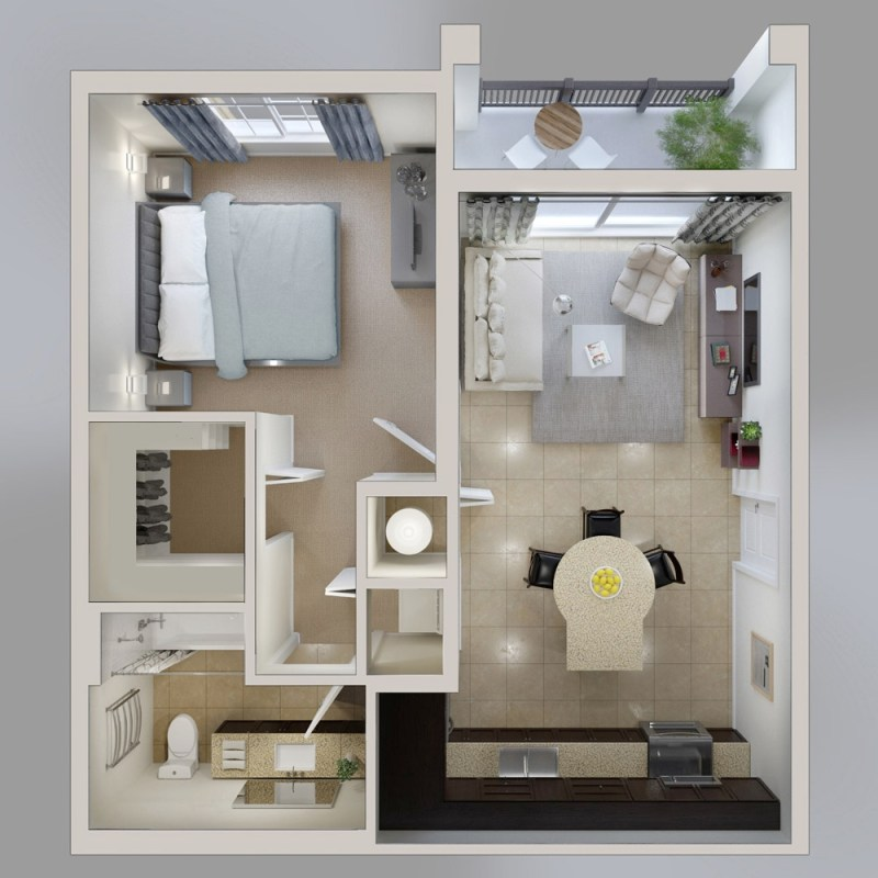 Large Of 1 Bedroom House Plans