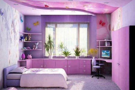 ad awesome purple girls bedroom designs 9
