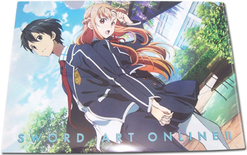 Sword Art Online II File Folder   Kirito   Asuna School Uniform     Sword Art Online II File Folder