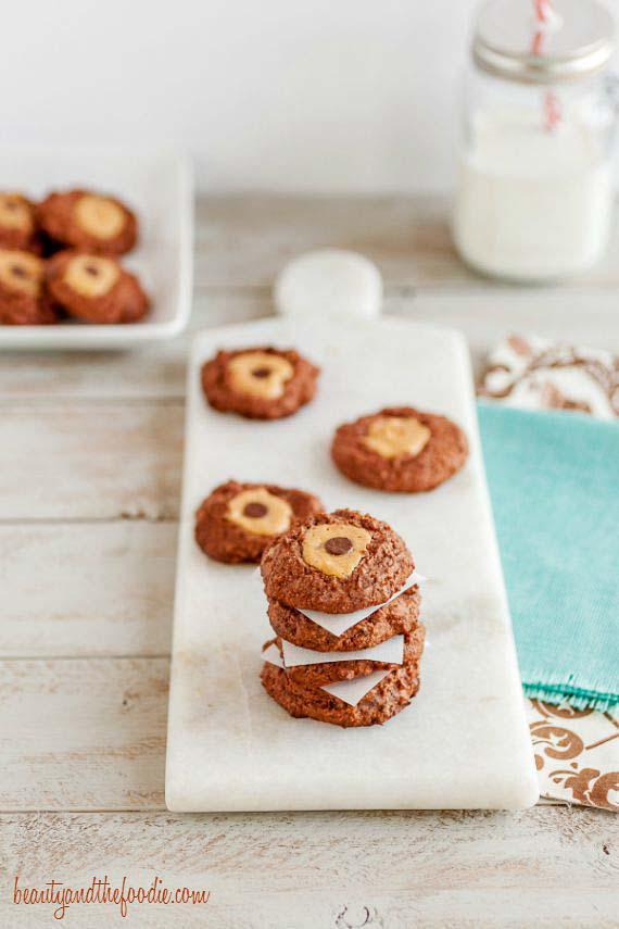 Paleo Easiest Chocolate Blossom Cookies