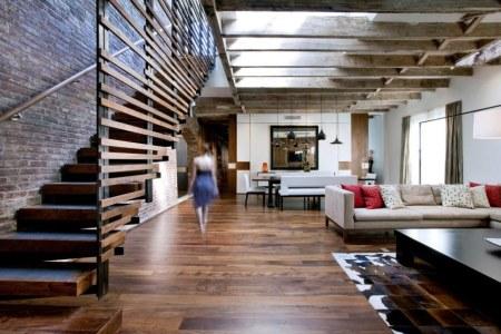 loft style interior design living room 909x606