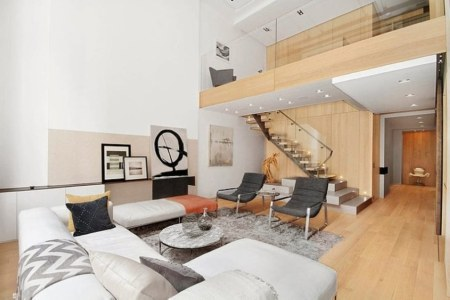 modern duplex apartment in new york living room 909x606