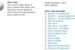 Apple iOS 6.1 Beta Release Date