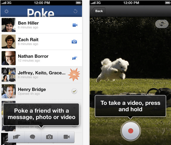 Facebook Poke Messaging App