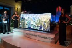 Samsung LG Flexible 4K TV Prototypes