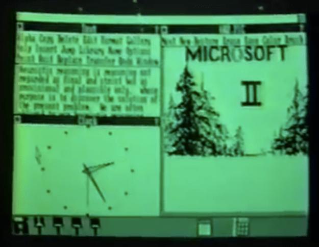 Early Microsoft Windows video