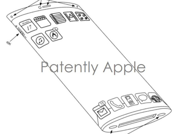 Apple iPhone future models: wraparound display shown in
