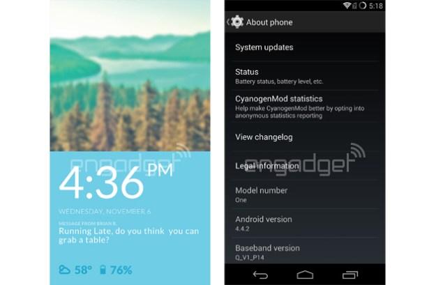 OnePlus One CyanogenMod 11S Operating System
