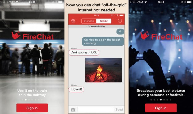 FireChat Messaging App Internet