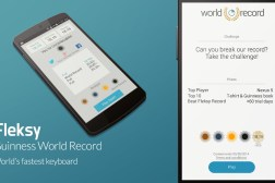 Fleksy Keyboard App Guinness Record