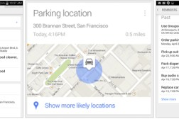 Google Now Parking Locations Card