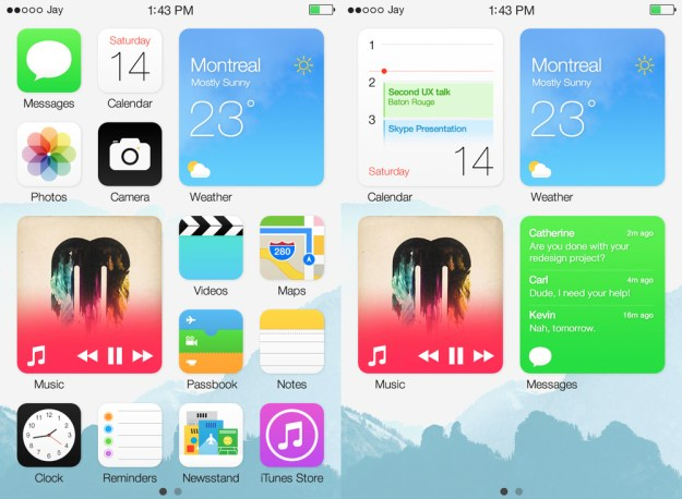 iOS 8 Concept Android Widgets