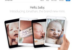 Hilarious Baby iPad Mini Mockup Page