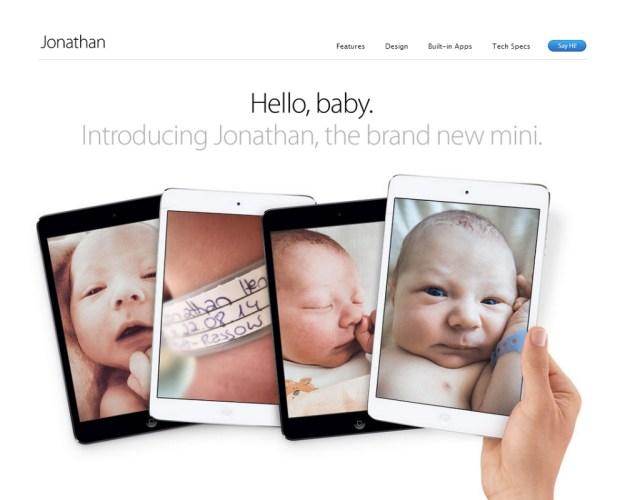 Hilarious Baby iPad Mini Mockup Page